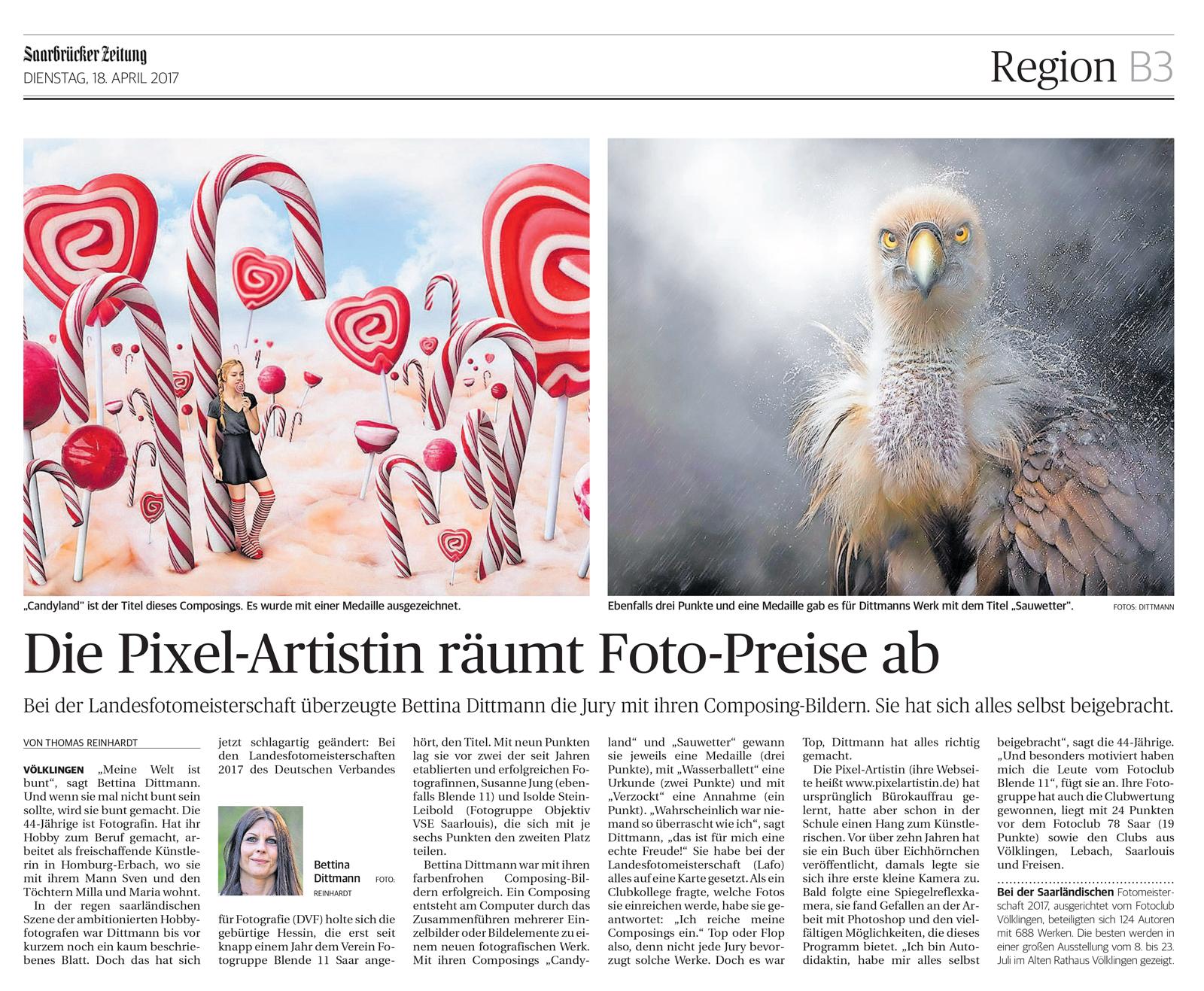 Saarbrücker Zeitung 18.04.2017