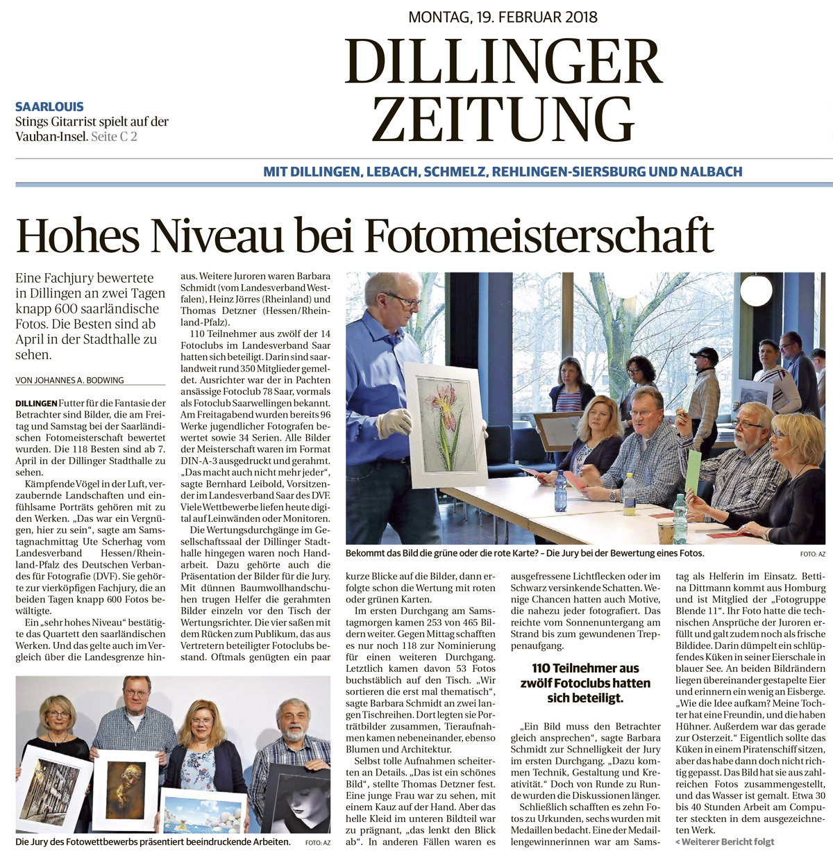 Dillinger Zeitung 19.02.2018