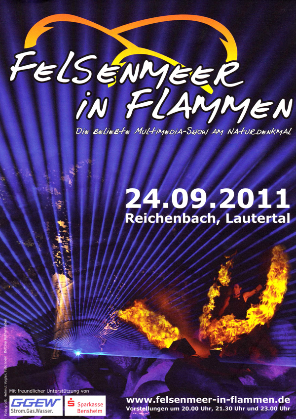 Felsenmeer in Flammen