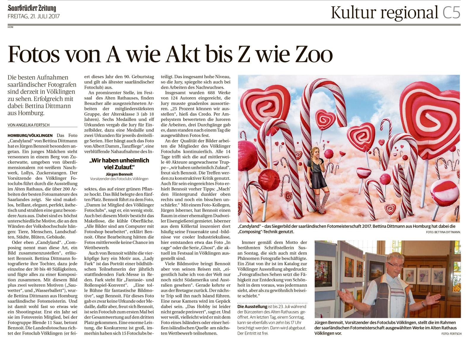 Saarbrücker Zeitung 21.07.2017