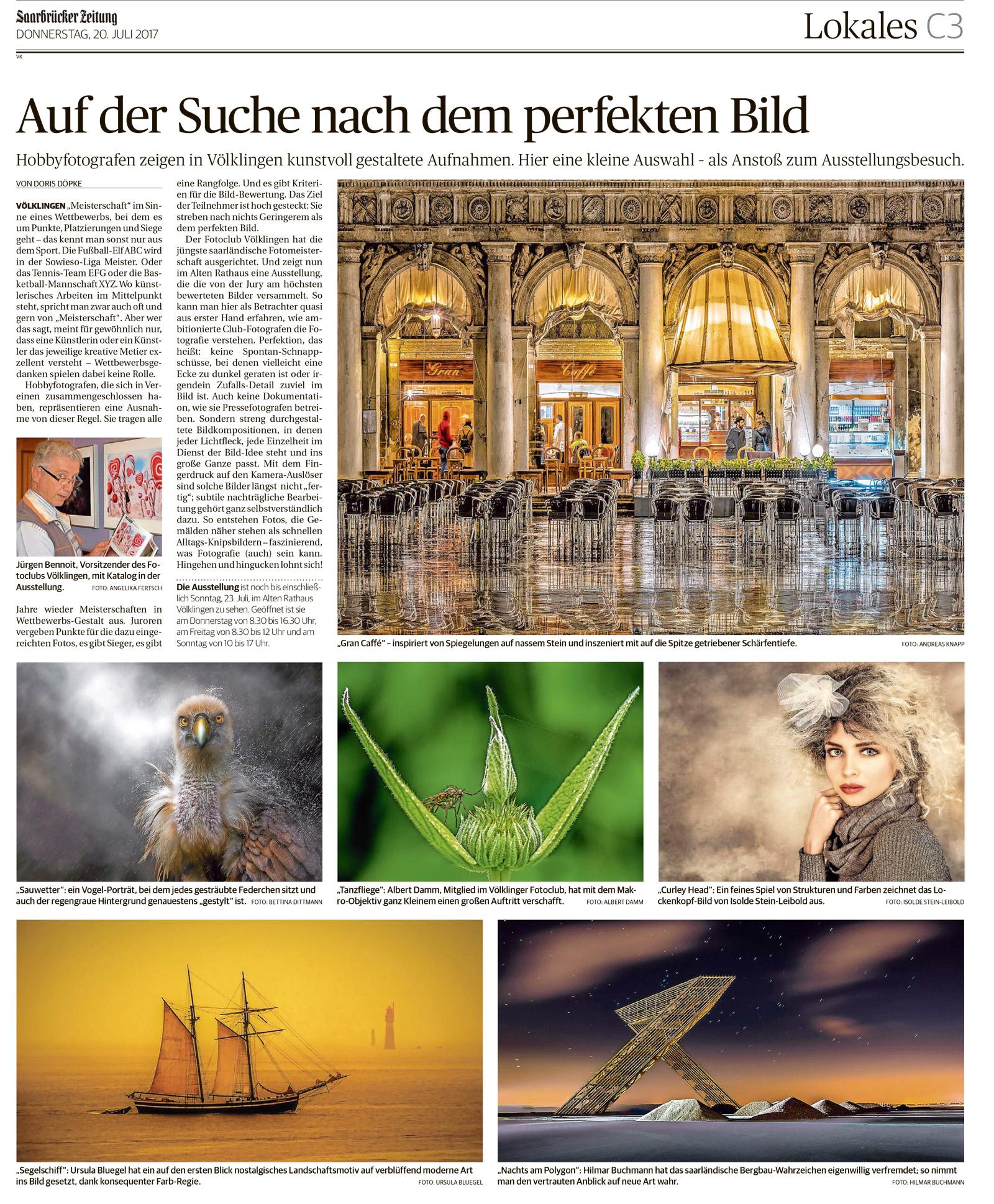 Saarbrücker Zeitung 20.07.2017