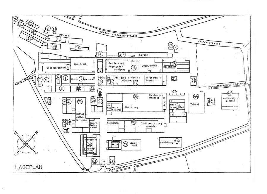Plan des Geländes