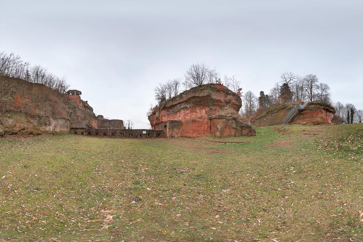 360 Grad Panoramafotografie Schlossberg Homburg