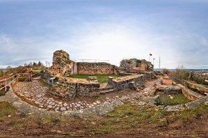 360 Grad Panoramafotografie Burgruine Hohenburg Homburg