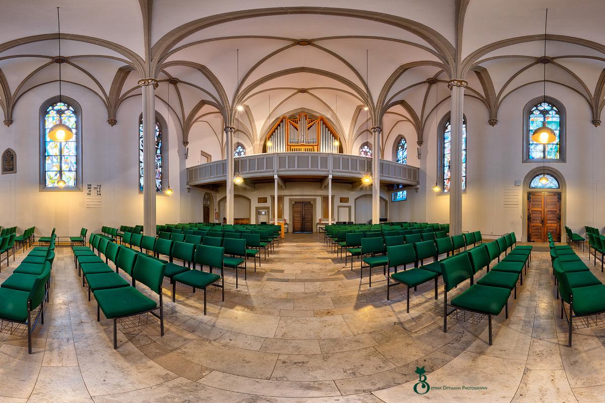 360 Grad Panoramafotografie Stadtkirche Homburg Saar