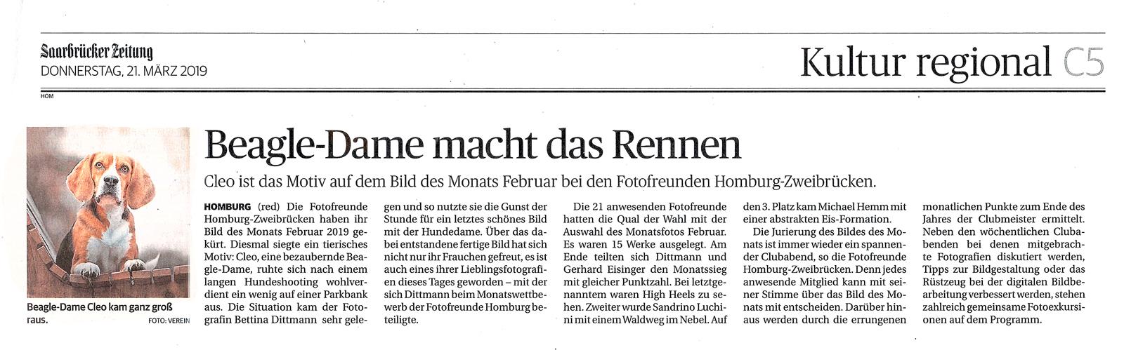 Saarbrücker Zeitung 21.03.2019