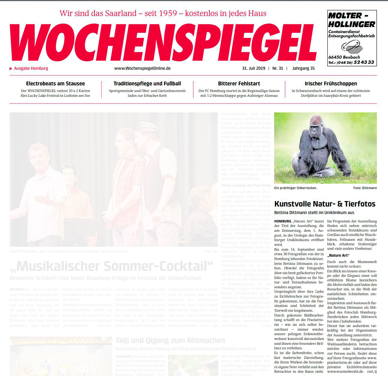 Wochenspiegel August 2019