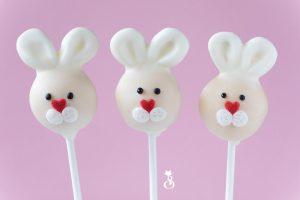 Kaninchen Cake Pops mit Mascarpone Frosting