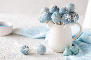 Winterliche Schnee Cake Pops